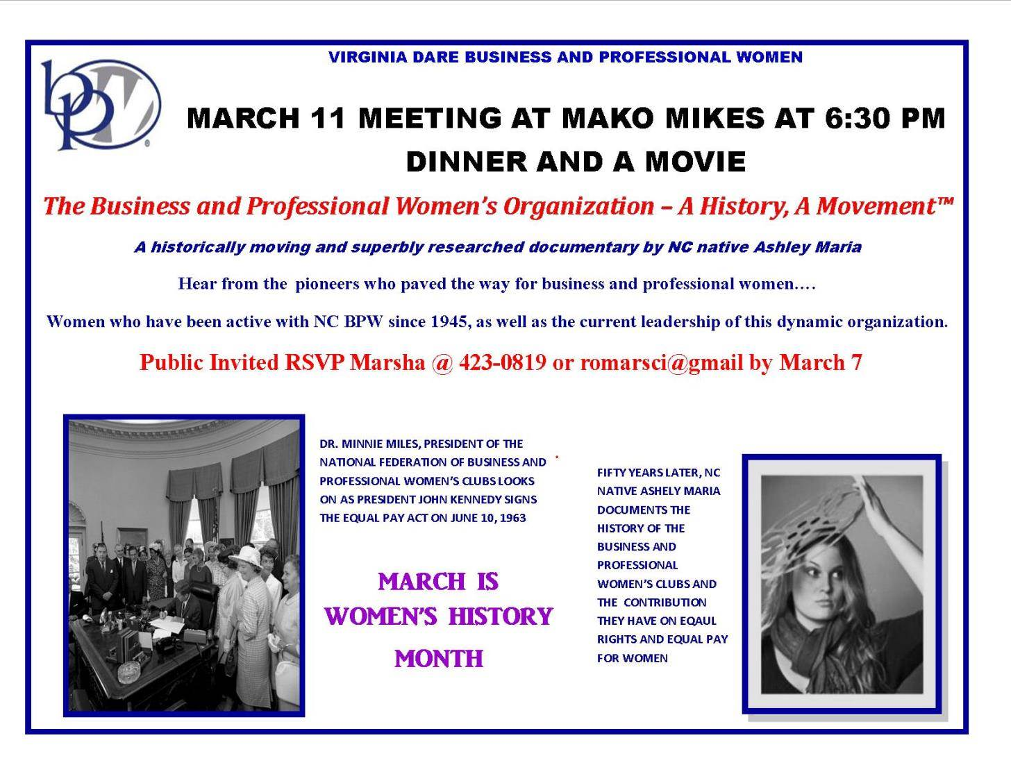 Film Screening for National Women's History Month